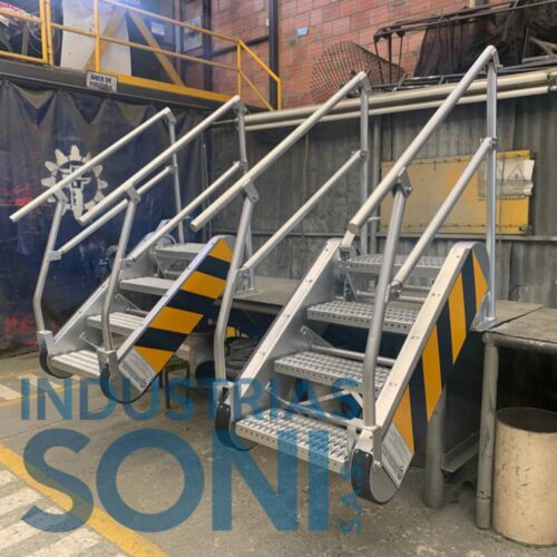 Fabricación de escaleras basculantes 3